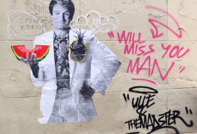 Robin Williams in Gràcia, Barcelona.