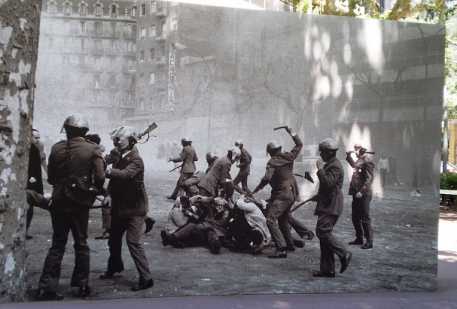 Los Grises in Passeig de Sant Joan, February 1976