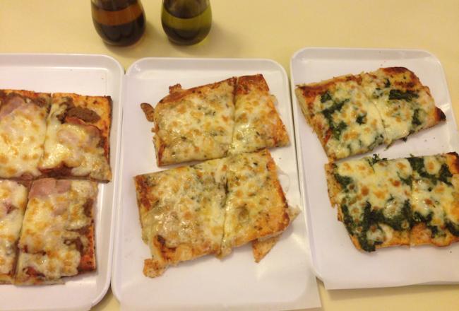 Carn Bier,Espinac,Gorgonzola pizzes, Lucania ii Barcelona, Bill Sinclair