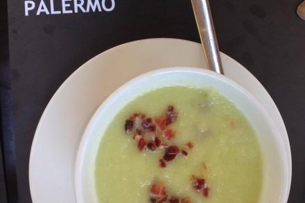 Sopa de pepino con jamon, Palermo, Barcelona by Bill Sinclair