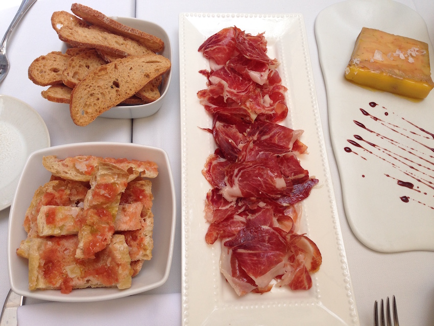 Jamon-iberico-with-pa-amb-tomaquet-and-terrine-of-foie-gras-at-Tram-Tram